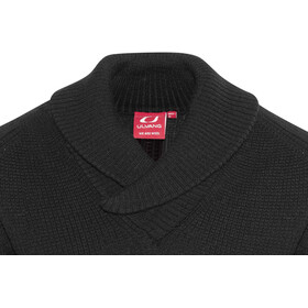 Ulvang Rav Shawl Neck Wool Sweater Unisex Black